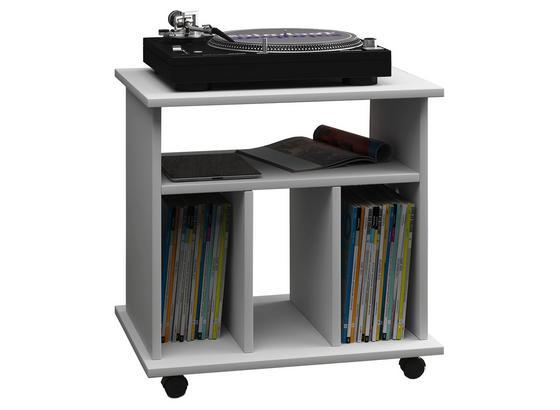 Schallplattenregal Retal B: 60 cm - Weiß, Basics, Holz/Holzwerkstoff (60/59/45cm)