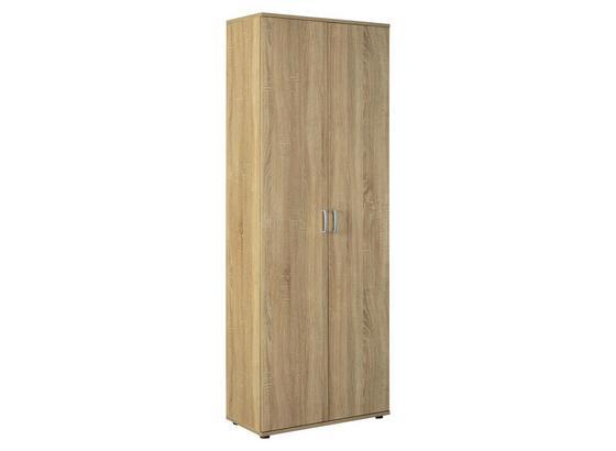 Mehrzweckschrank Gallo B: 70 cm Sonoma Eiche - Schwarz/Sonoma Eiche, Basics, Holzwerkstoff (70/189/34cm) - Livetastic