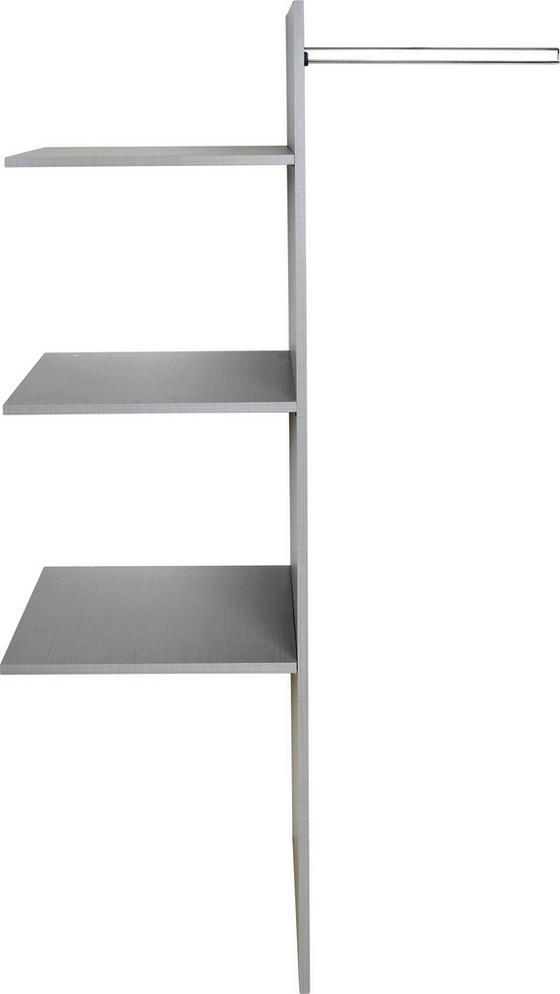 Inneneinteilung für Schwebetürenschränke - Grau, Holz (87/147/50cm)