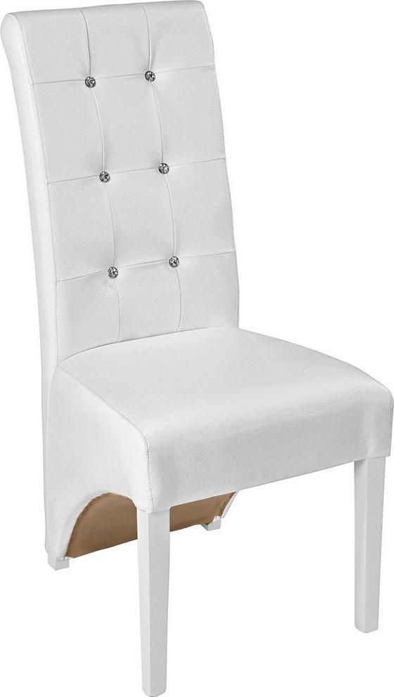 Stolička Marilyn - biela, Konvenčný, drevo (47/105/66cm)