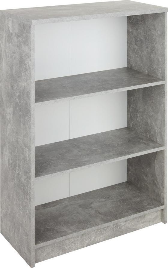 Regál 4-you New Yur02 - bílá/šedá, Moderní, kompozitní dřevo (74/111,5/34,6cm)