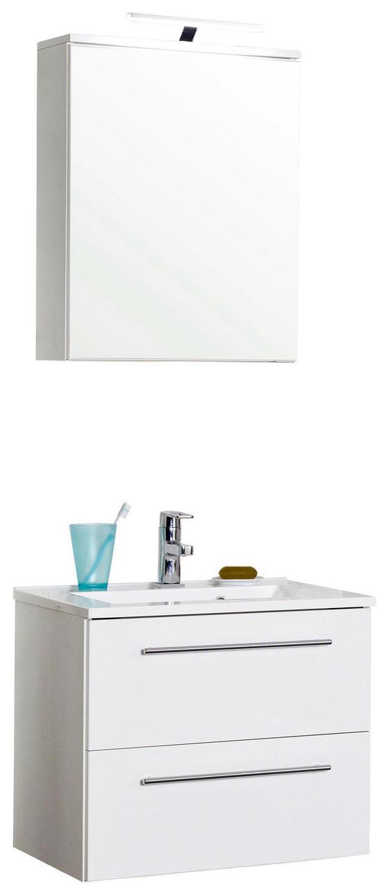 Badezimmer Mailand 60 cm Weiß - Weiß, MODERN, Holzwerkstoff/Kunststoff (60/47cm)
