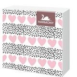 Serviette By My Valentine - Herzchen - Pink/Schwarz, KONVENTIONELL, Papier (33/33cm)