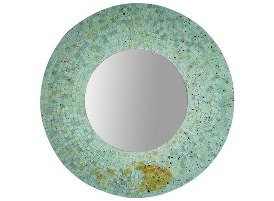 Wandspiegel Mosaik Ø 76 cm Grün - Grün, MODERN, Glas/Holzwerkstoff (76/10cm)
