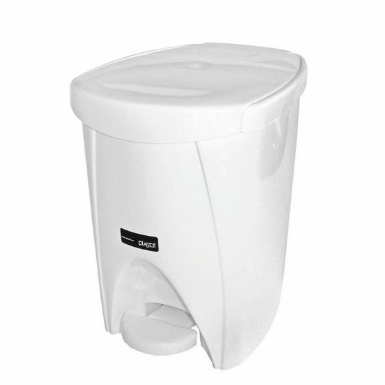 Treteimer Weiß 6 Liter - Weiß, KONVENTIONELL, Kunststoff (6l) - Plast 1