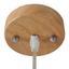Závesná Lampa Jari - prírodné farby/čierna, Moderný, kov/drevo (25/120cm) - Mömax modern living