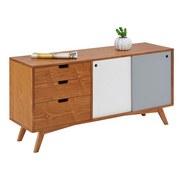 Komoda Jillian - barva jilmu/bílá, Moderní, dřevo/dřevěný materiál (120/60/35cm) - MÖMAX modern living