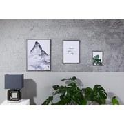 Bilderrahmen Aaron,21x29,7cm - Anthrazit, ROMANTIK / LANDHAUS, Kunststoff (21/29,7/1,7cm) - Luca Bessoni