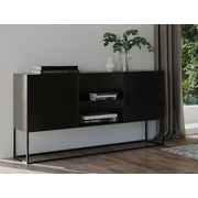 Sideboard Metall B 120cm Rich, Schwarz - Schwarz, MODERN, Metall (120/75/40cm) - Livetastic