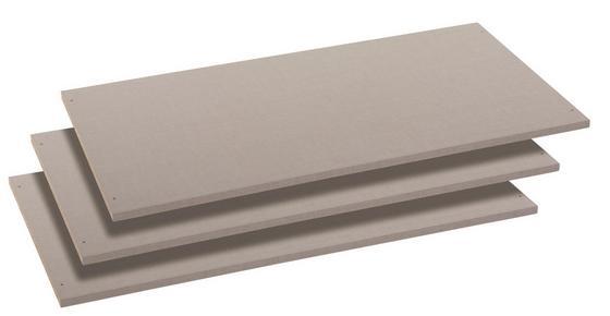 Einlegeboden Universal, 3er Set - Grau (88/1.6/48cm)