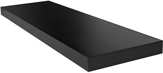 Regál Nástěnný Giga - černá, Moderní, dřevěný materiál (80/3,8/23,50cm)