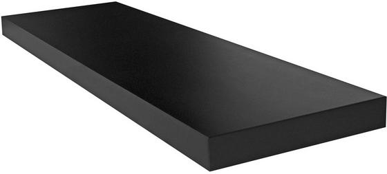 Regál Nástěnný Giga - černá, Moderní, kompozitní dřevo (80/3,8/23,50cm)