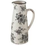 Dekokrug Anny - Schwarz/Weiß, Basics, Keramik (12/12/27cm)