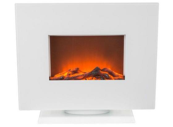 Elektrický Krb Simon - biela, Moderný, kov/sklo (60/50,9/26cm)
