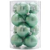 Christbaumkugel-Set Bella - Mintgrün, Basics, Glas - Ombra