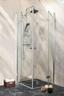 Glas Schwingtür Sanoflex Symphony L 85-87cm - Transparent, KONVENTIONELL, Glas (85-87/195cm)