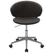 Otočná Židle Stella - šedá/barvy chromu, Lifestyle, kov/textil (56/73-82,5/49cm) - Modern Living