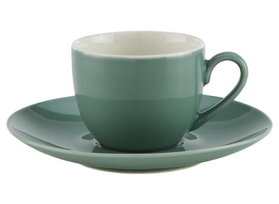 Šálka Na Espresso S Podšálkou Sandy - petrolejová/mätovozelená, Konvenčný, keramika (6,4/5cm) - Mömax modern living