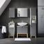 Regál Do Kúpeľne Rocco - sivá/biela, Moderný, drevo (30/84/31,20cm) - Modern Living