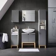 Spodná Skrinka Rocco - sivá/biela, Moderný, drevo (60/65/32cm) - Modern Living