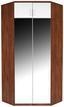 Aufsatzschrank zu Eckschrank Wien - Eichefarben/Weiß, KONVENTIONELL, Holzwerkstoff (120/39/54cm)