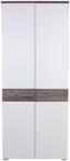 Garderobenkombination Monza New 1 - Eichefarben/Weiß, MODERN, Holzwerkstoff (240/196/36cm)