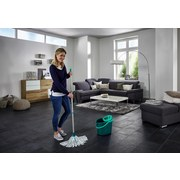 Ersatzmopp Classic Mop Viscose - Türkis/Weiß, Basics, Textil (32cm) - Leifheit