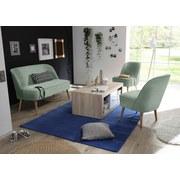 Sessel Pino Es B: ca. 54 cm - Kieferfarben/Mintgrün, Trend, Holzwerkstoff/Textil (54/83/66cm) - Carryhome