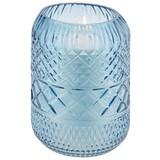 Windlicht Aleyna - Blau, Basics, Glas (12,5/18,5cm) - Luca Bessoni