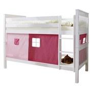 Etagenbett Sammy 90x200 cm Weiß - Hellrosa/Rosa, MODERN, Holz (90/200cm) - MID.YOU