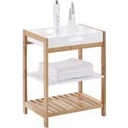 Regál Do Koupelny Mirella - barvy borovice/bílá, Moderní, dřevo (40/50/30cm) - MODERN LIVING