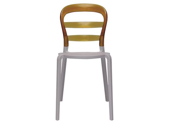 Stolička Lina Žltá - žltá/biela, Design, plast (45/85/50cm)