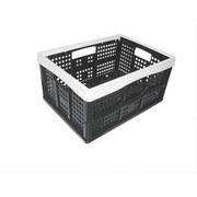 Rekesz 35 Liter - fekete/fehér, konvencionális, műanyag (47/34,5/23,5cm)
