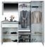 Garderobe Porto - Weiß/Grau, MODERN, Holzwerkstoff (200/200/35,3cm)