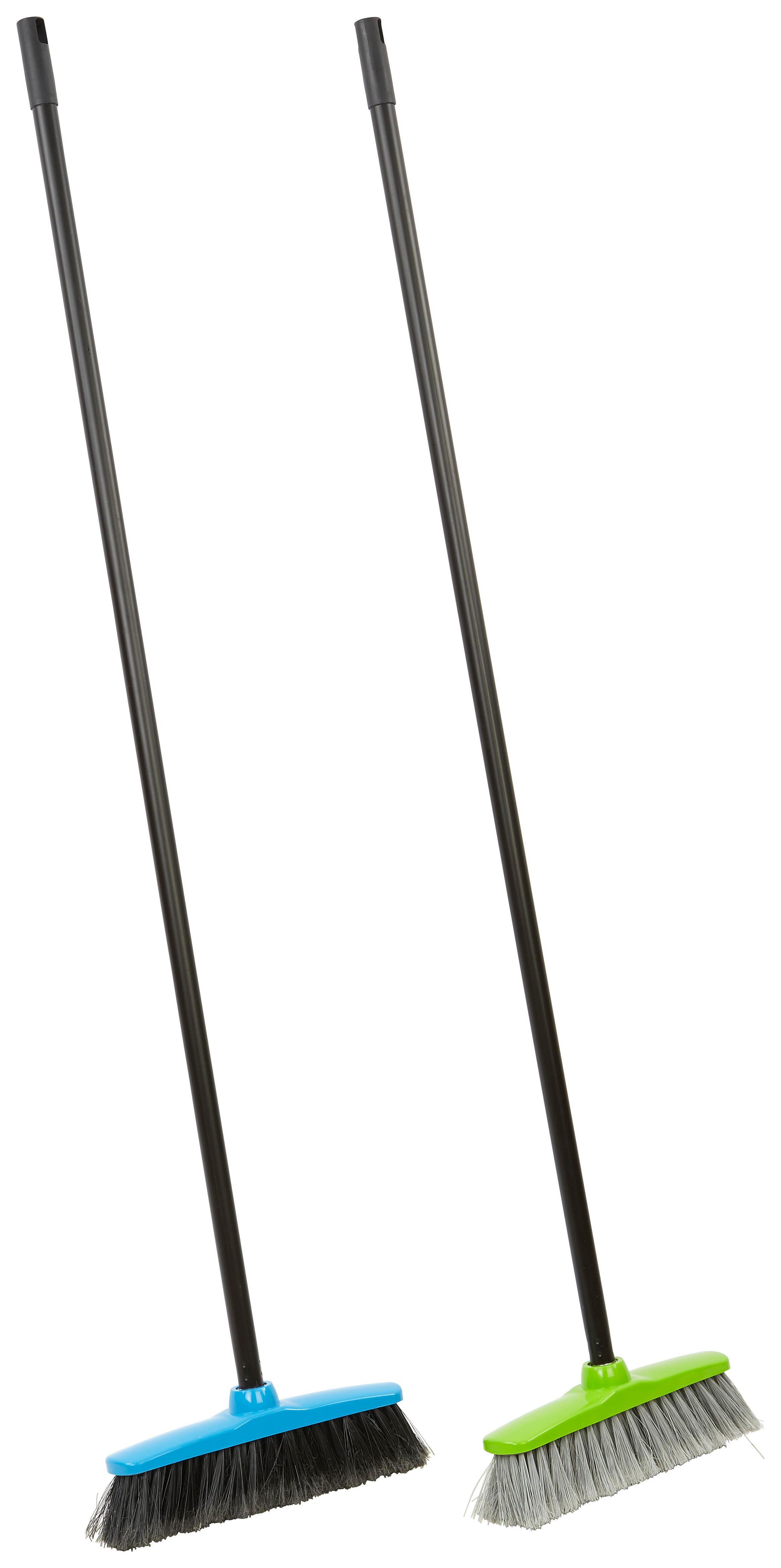 Seprű Műanyag - lila/lime, konvencionális, műanyag (125/27/5cm)