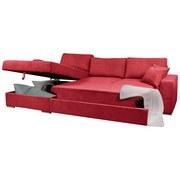 Sedacia Súprava Kuba 2 - sivá/červená, Konvenčný, drevo (165/88/290cm)