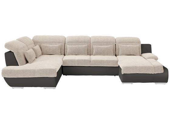 Sedací Souprava Multi - tmavě šedá/béžová, Moderní, textil (228/345/184cm)