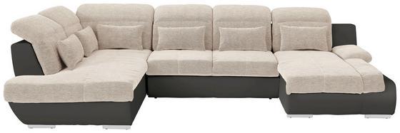 Sedacia Súprava Multi - béžová/tmavosivá, Moderný, textil (228/345/184cm)