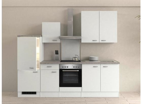 Küchenblock Wito 270 cm Weiß - Edelstahlfarben/Weiß, MODERN, Holzwerkstoff (270/60cm)