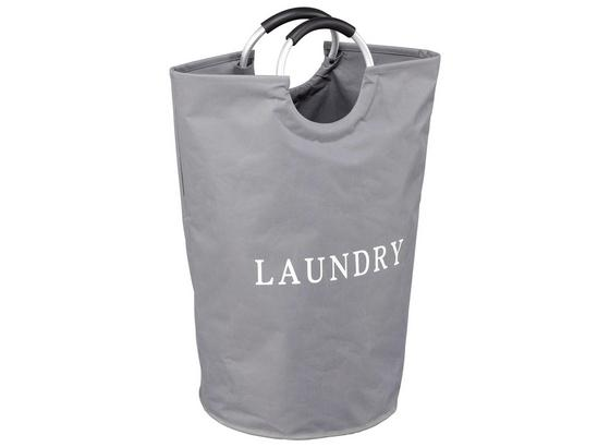 Wäschekorb Dress - Weiß/Grau, MODERN, Textil/Metall (36,5/64/36,5cm) - Homezone