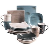 Kombiservice 16-Tlg. Kombiservice Derby - Beige/Braun, Basics, Keramik (31/31/41cm)
