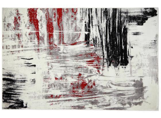 Webteppich Metro 120x170 cm - Beige/Rot, KONVENTIONELL, Textil (120/170cm) - Ombra