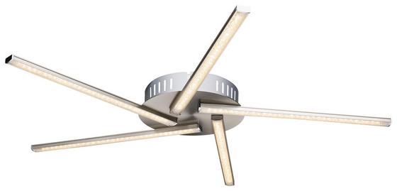 LED-Deckenleuchte Alma - Nickelfarben, MODERN, Glas/Kunststoff (60/4,5cm)
