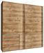 Schwebetürenschrank Level 36a 250 cm Weiß - Eichefarben, MODERN, Holzwerkstoff (250/216/65cm)