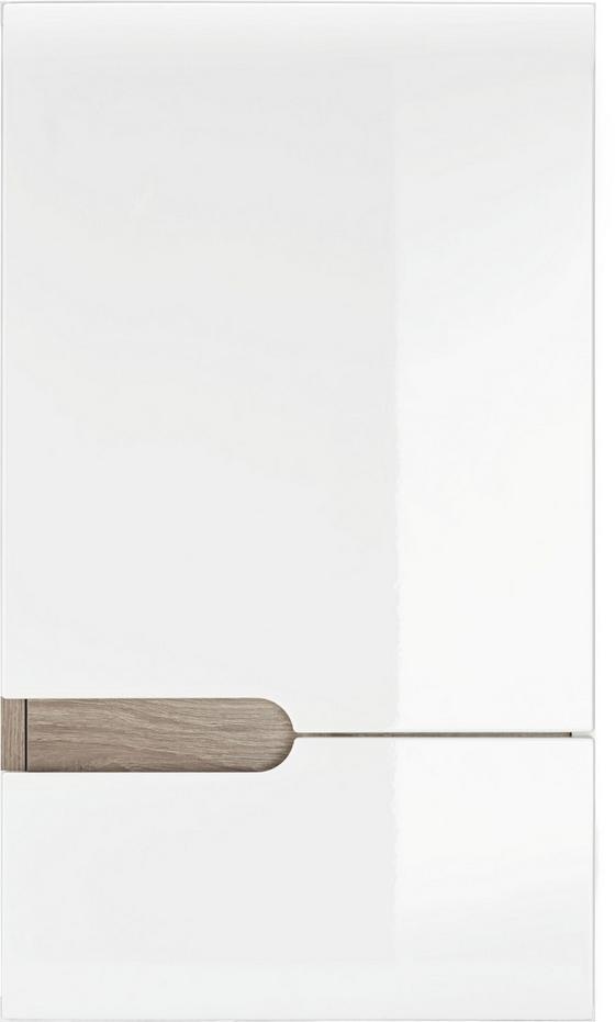 Horní Skříňka Linate Rechts - bílá/přírodní barvy, Moderní (40/69/22cm)