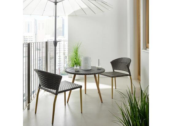 Balkónová Súprava Marie - sivá, Moderný, kov/plast - Mömax modern living