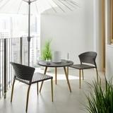 Balkónová Súprava Marie - sivá, Moderný, umelá hmota/kov - Mömax modern living