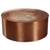 Couchtisch Rund aus Aluminium Rahi, Kupferfarben - Kupferfarben, LIFESTYLE, Metall (75/75/31cm) - Livetastic