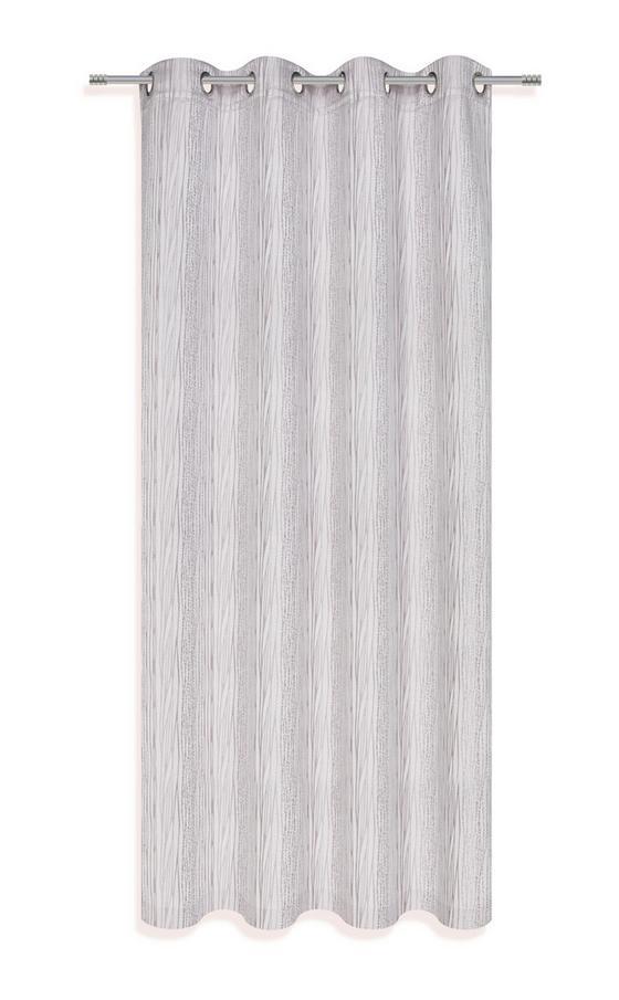 Készfüggöny Sybille - ezüst színű, konvencionális, textil (140/245cm)