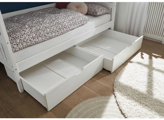 Bettschubkasten Karlson 2-Er Set Weiß - Weiß, MODERN, Holz/Kunststoff (99/26/91cm) - Livetastic